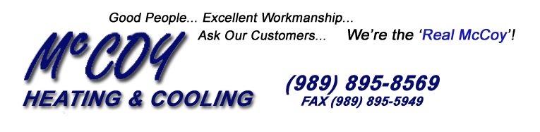 McCoy Heating & Cooling 303 S. Water Street Bay City , MI 48708 - Phone: (989) 895-8569